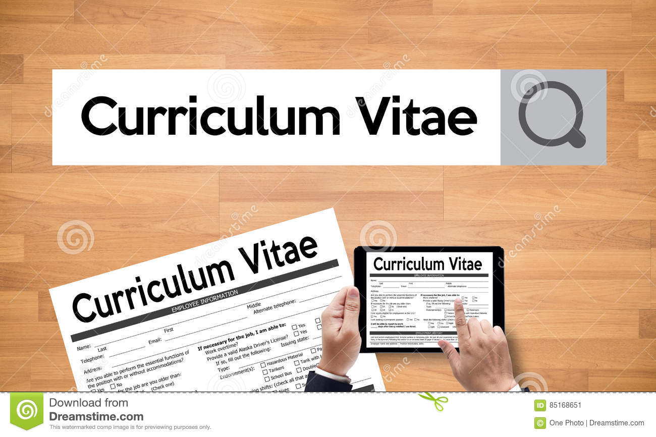 Cv Curriculum Vitae Job Interview Concept With Business Cv Re