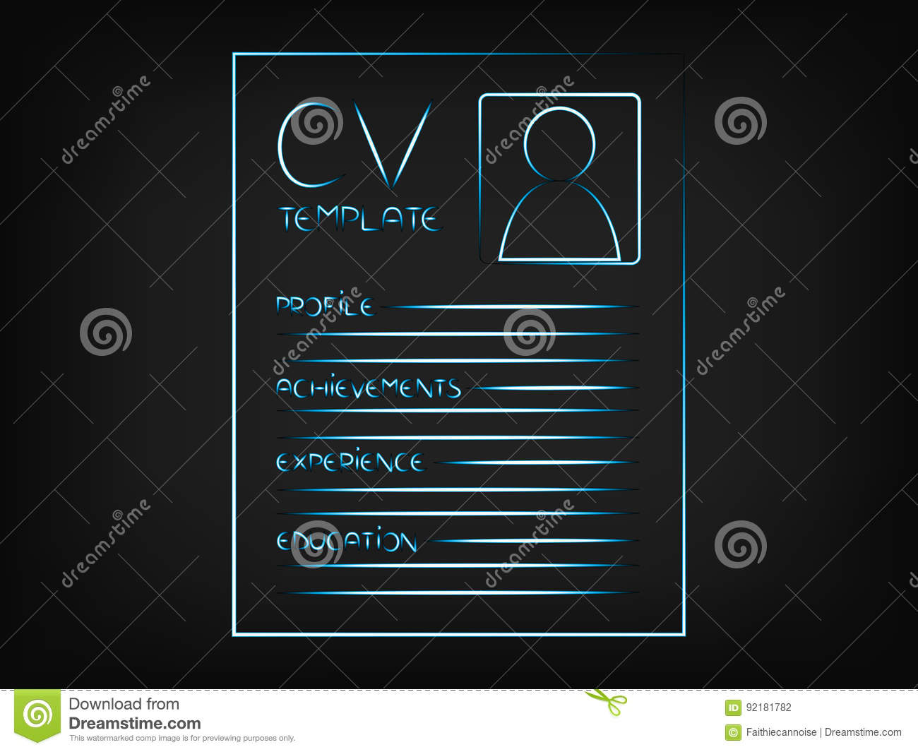 cv illustration highlighting the sections that should be include