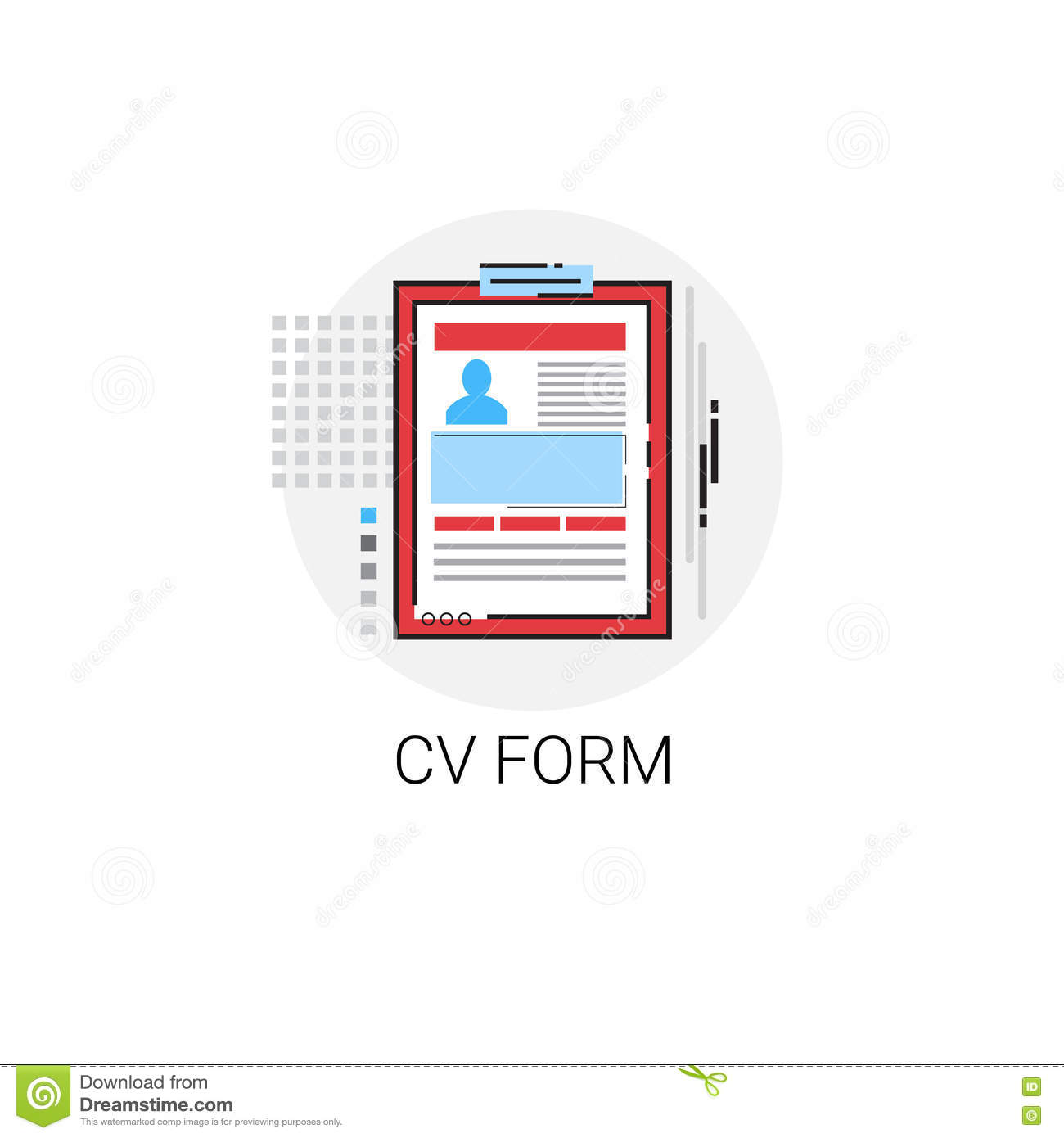 cv from job vacancy recruitment application icon stock vector cv from job vacancy recruitment application icon