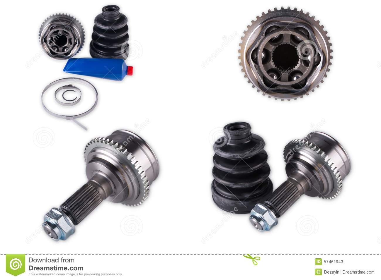 cv joints  constant velocity joints  part wheel of stock photo