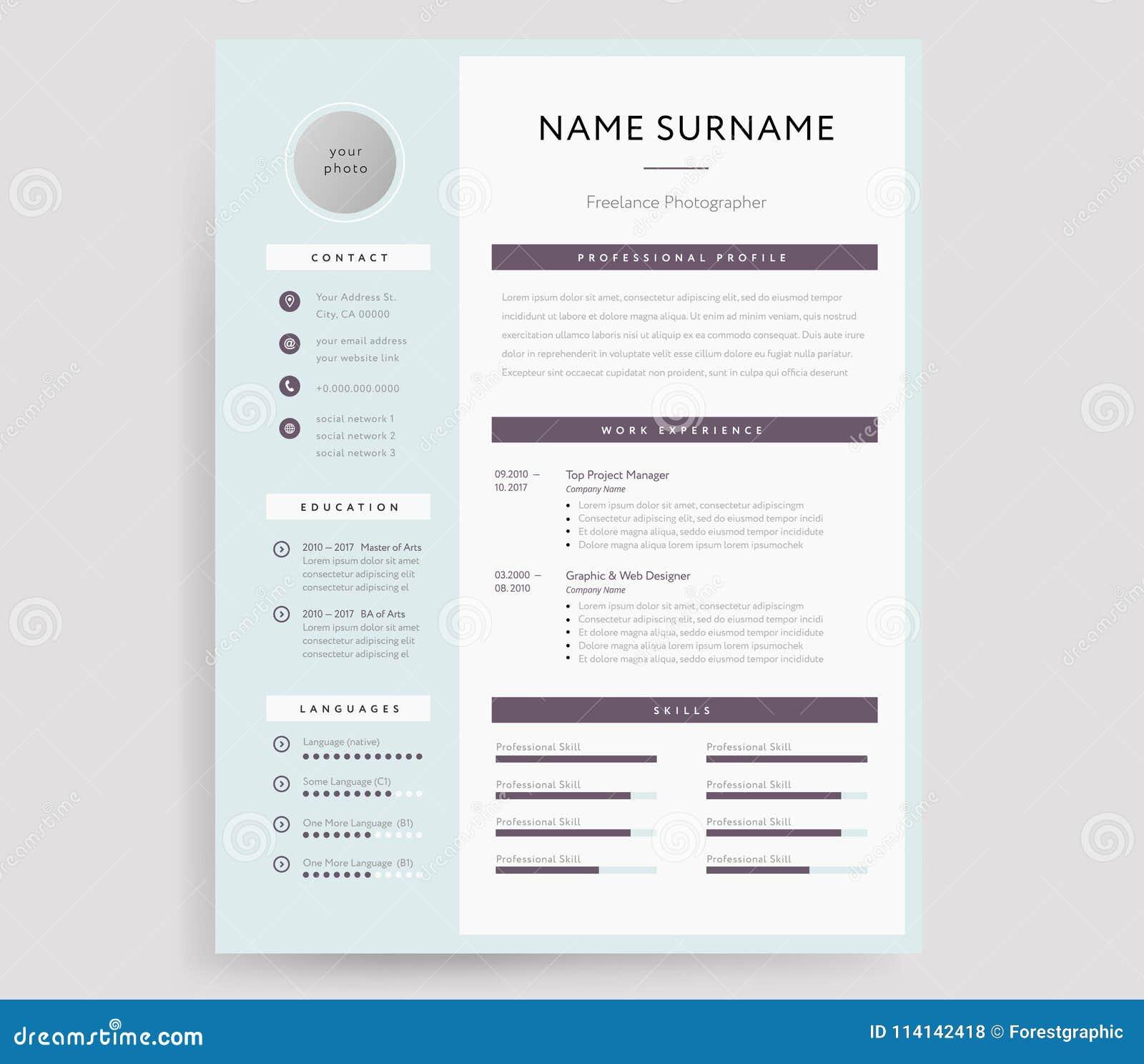 CV/muestra Profesionales De La Plantilla Del Curriculum Vitae ...