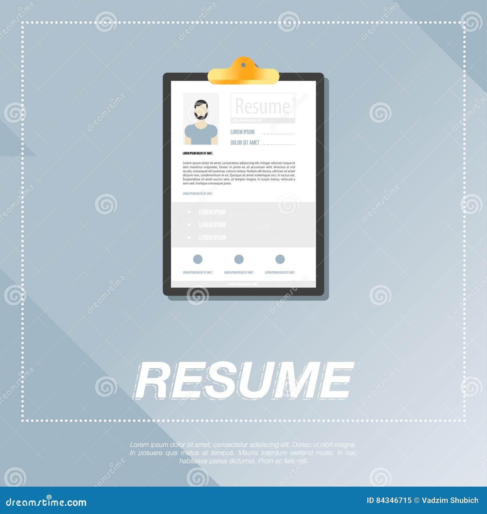 CV, Plantilla Del Curriculum Vitae Para Un Hombre Stock de ...