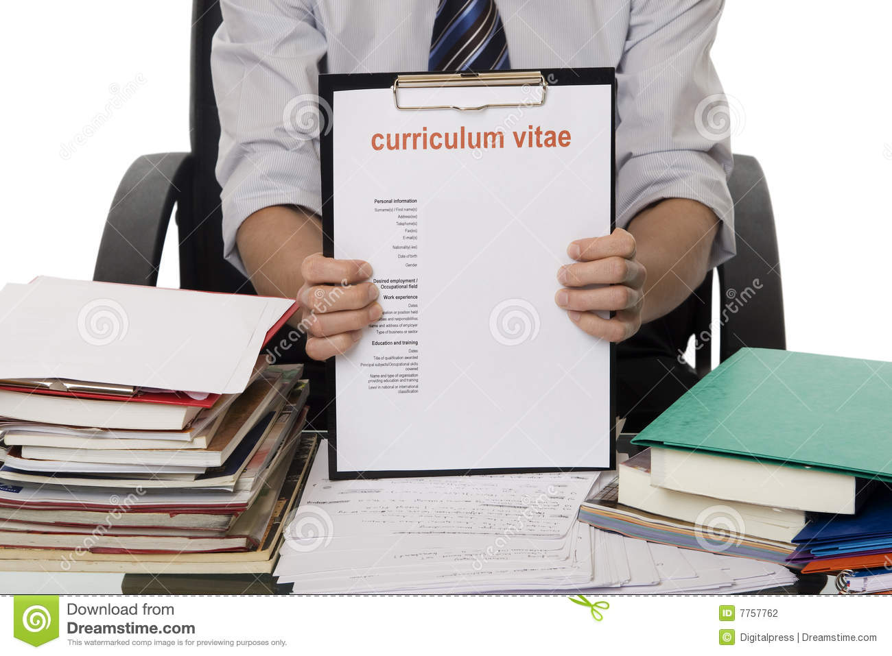 cv pour le travail d u0026 39 application photo stock