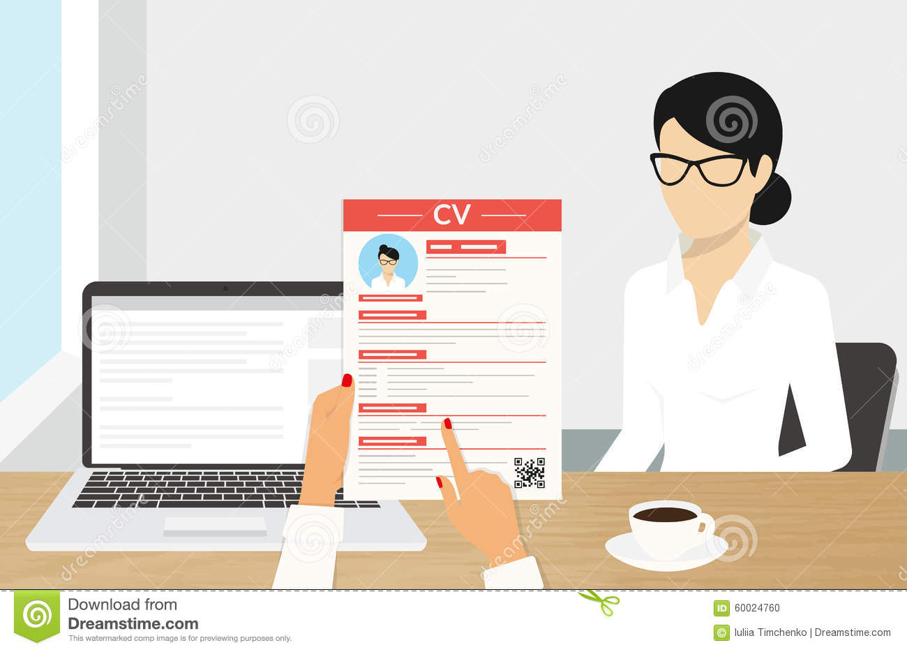 cv presentation stock vector  illustration of headhunting