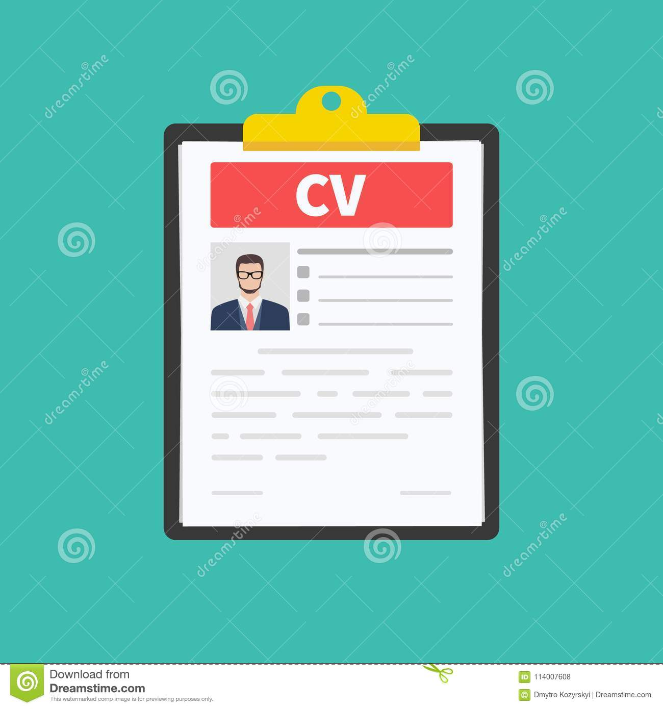 Cv Resume Job Interview Concept Employment Hiring Concepts