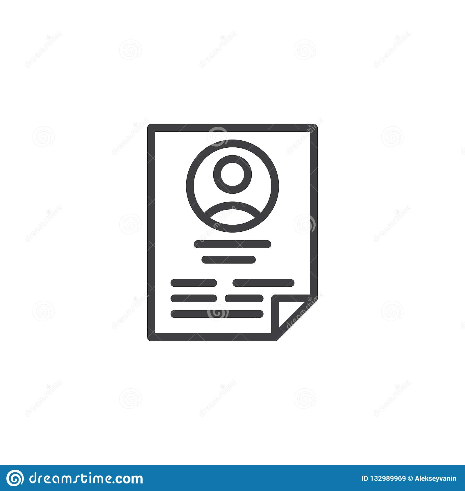 CV Resume Outline Icon