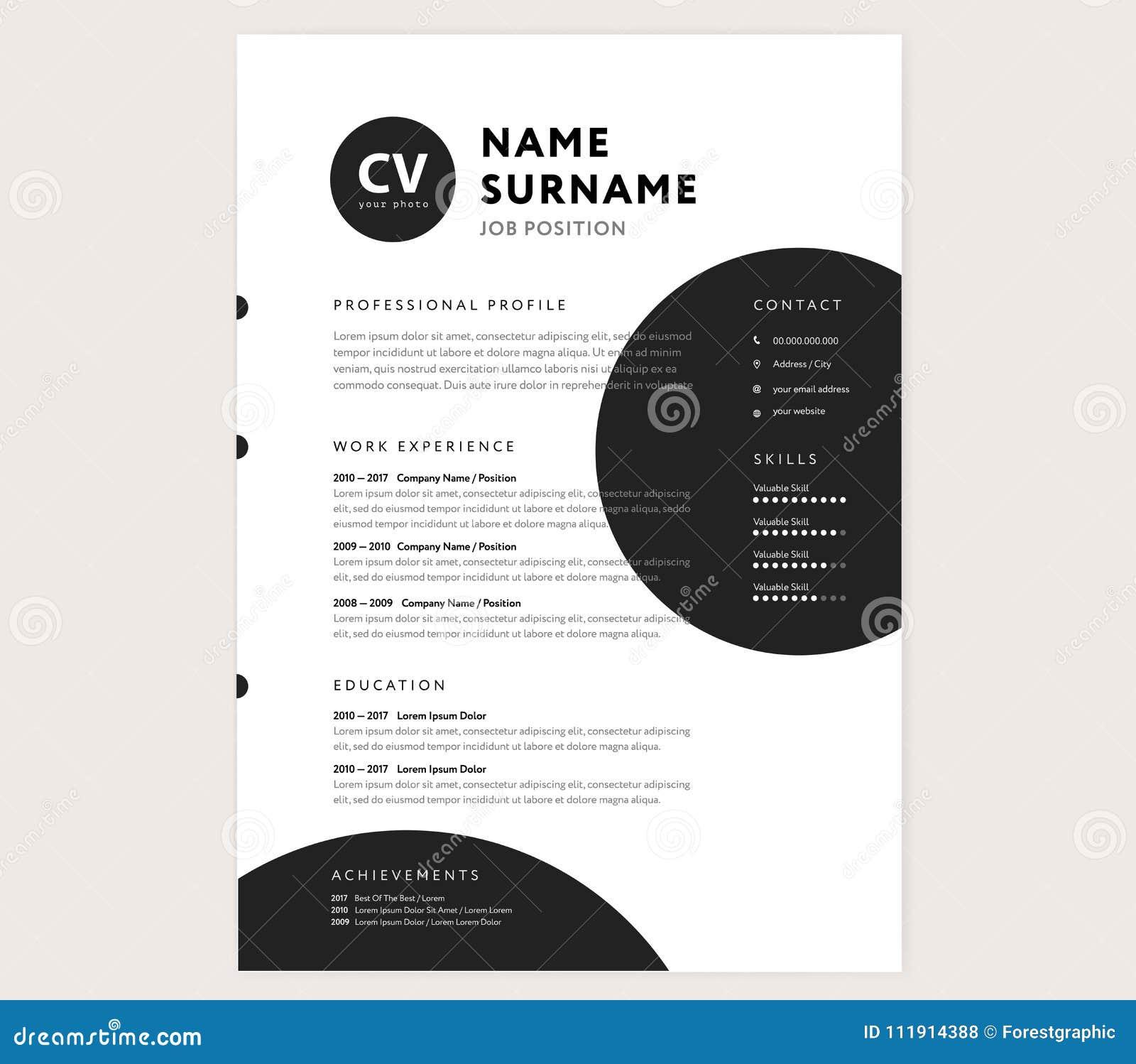CV / Resume Template - Creative Stylish Curriculum Vitae Design ...