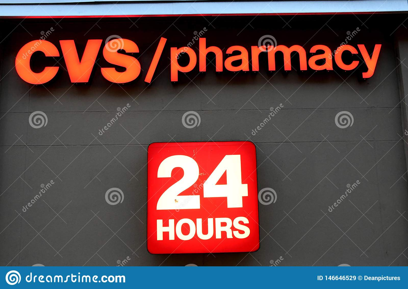 Cvs Pharmacy Opens 24 Hours N Usa Editorial Stock Image