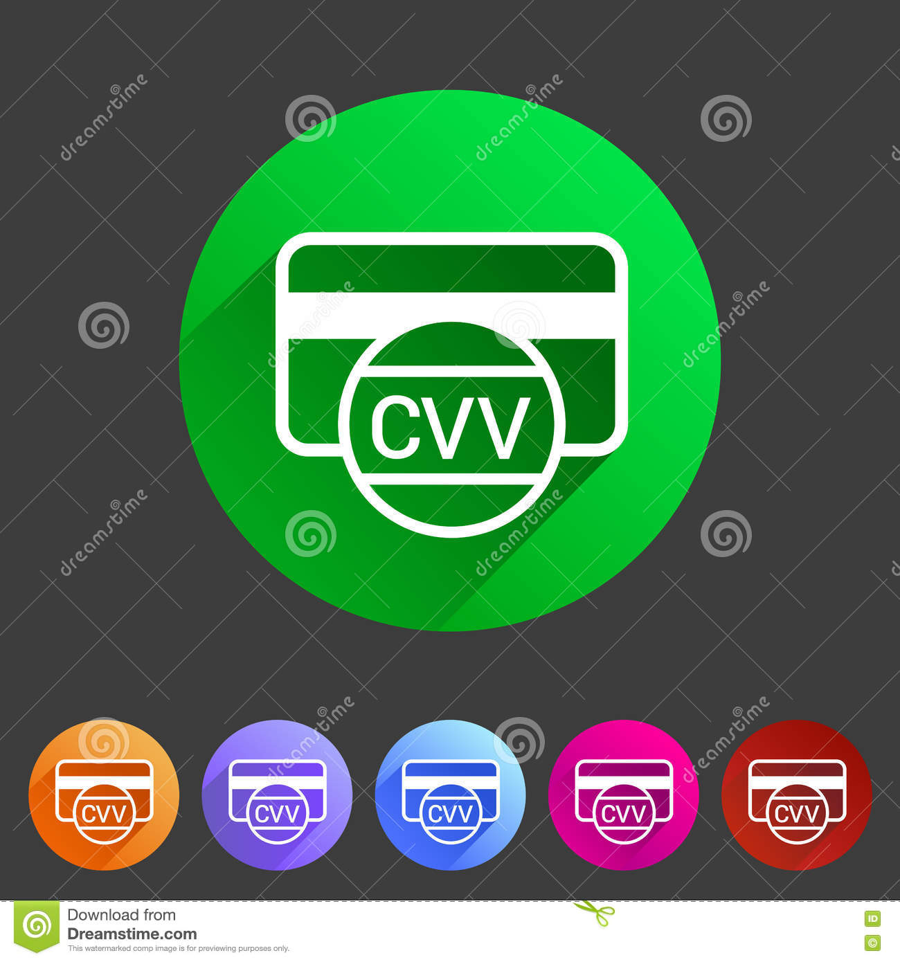 CVV Card Security Code Credit Icon Flat Web Sign Symbol Logo Label