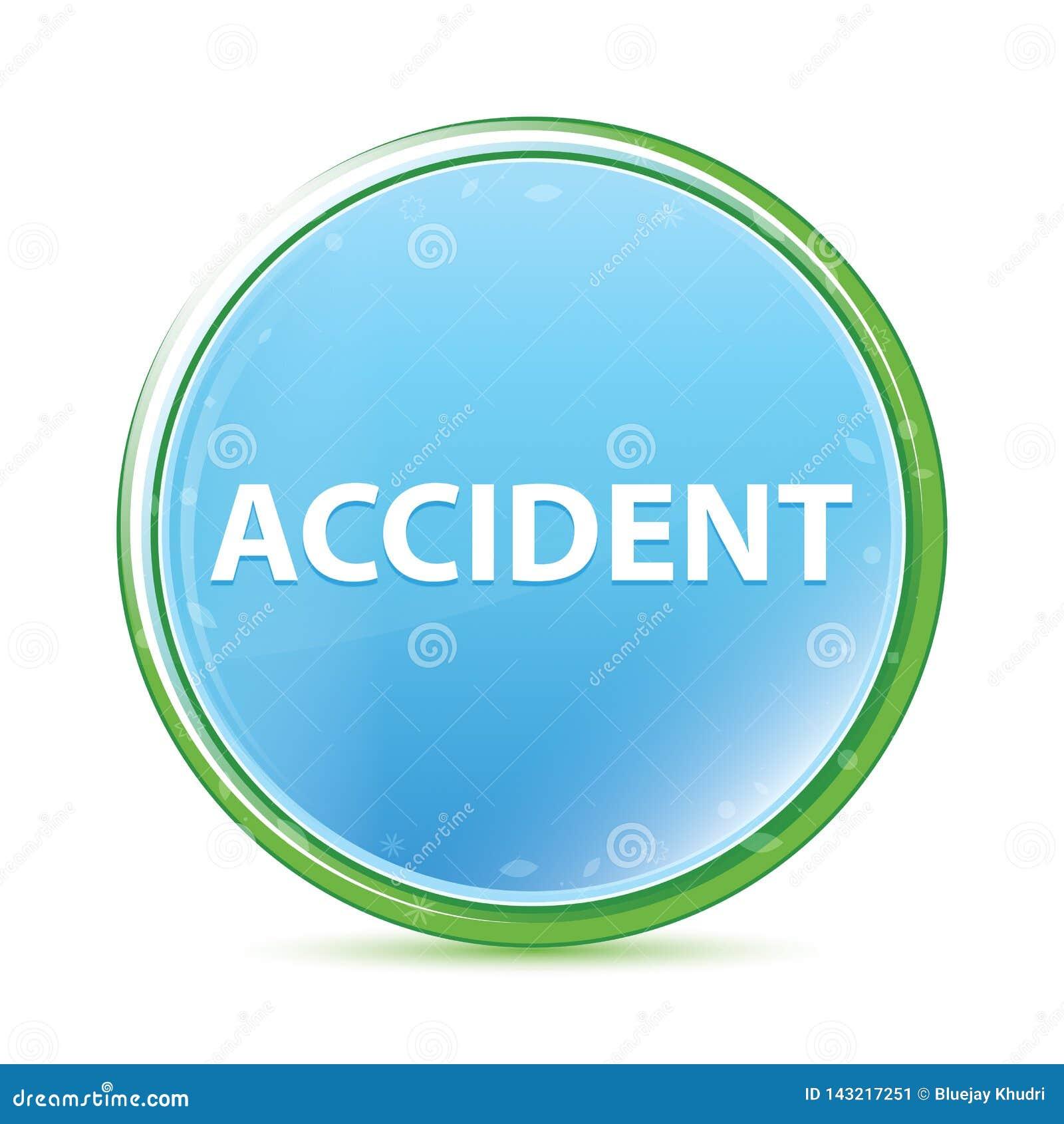 Cyaan blauwe ronde knoop van ongevallen de natuurlijke aqua