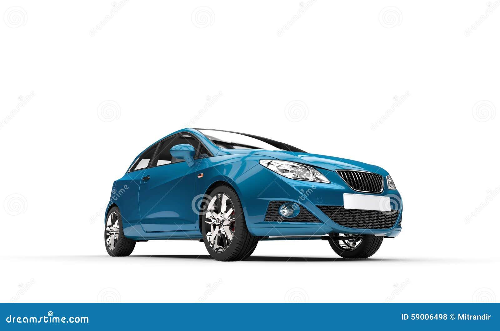 Cyan Car - Front View