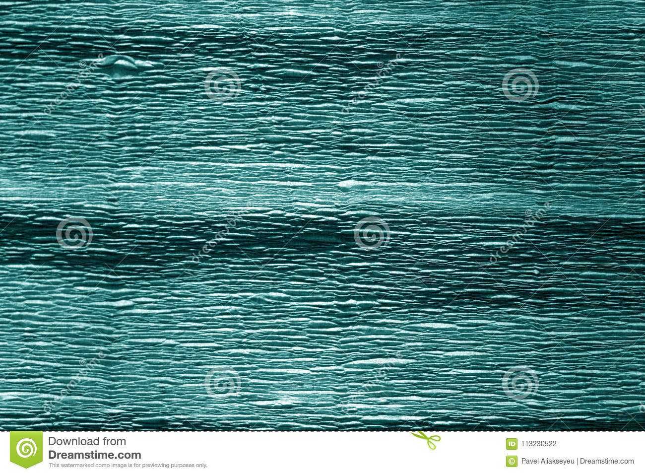 Cyan Color Crepe Paper Stock Photo Image Of Detail 113230522