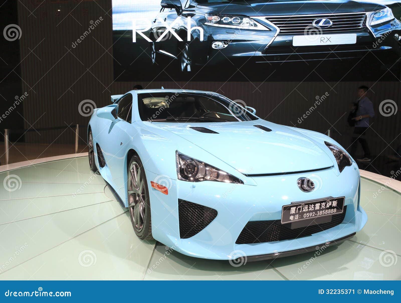 Merveilleux Cyan Lexus Lfa Car Stock Image