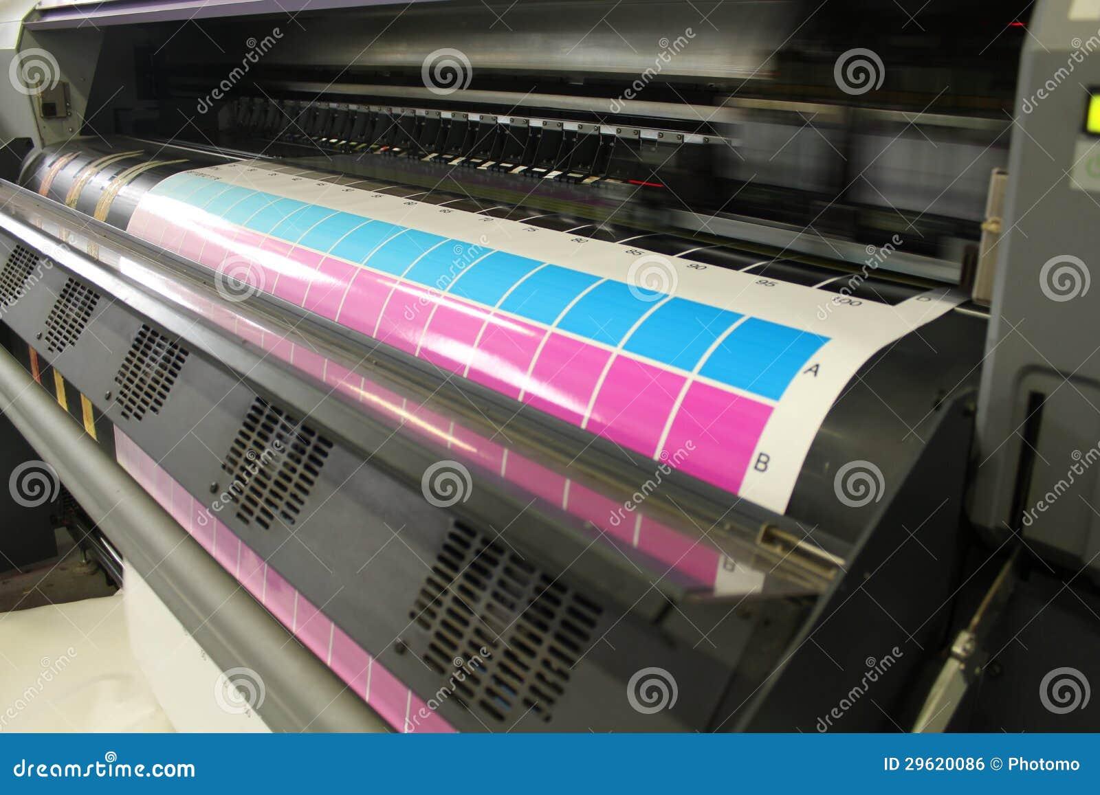 Cyan magentafärgat för röra head digital printing