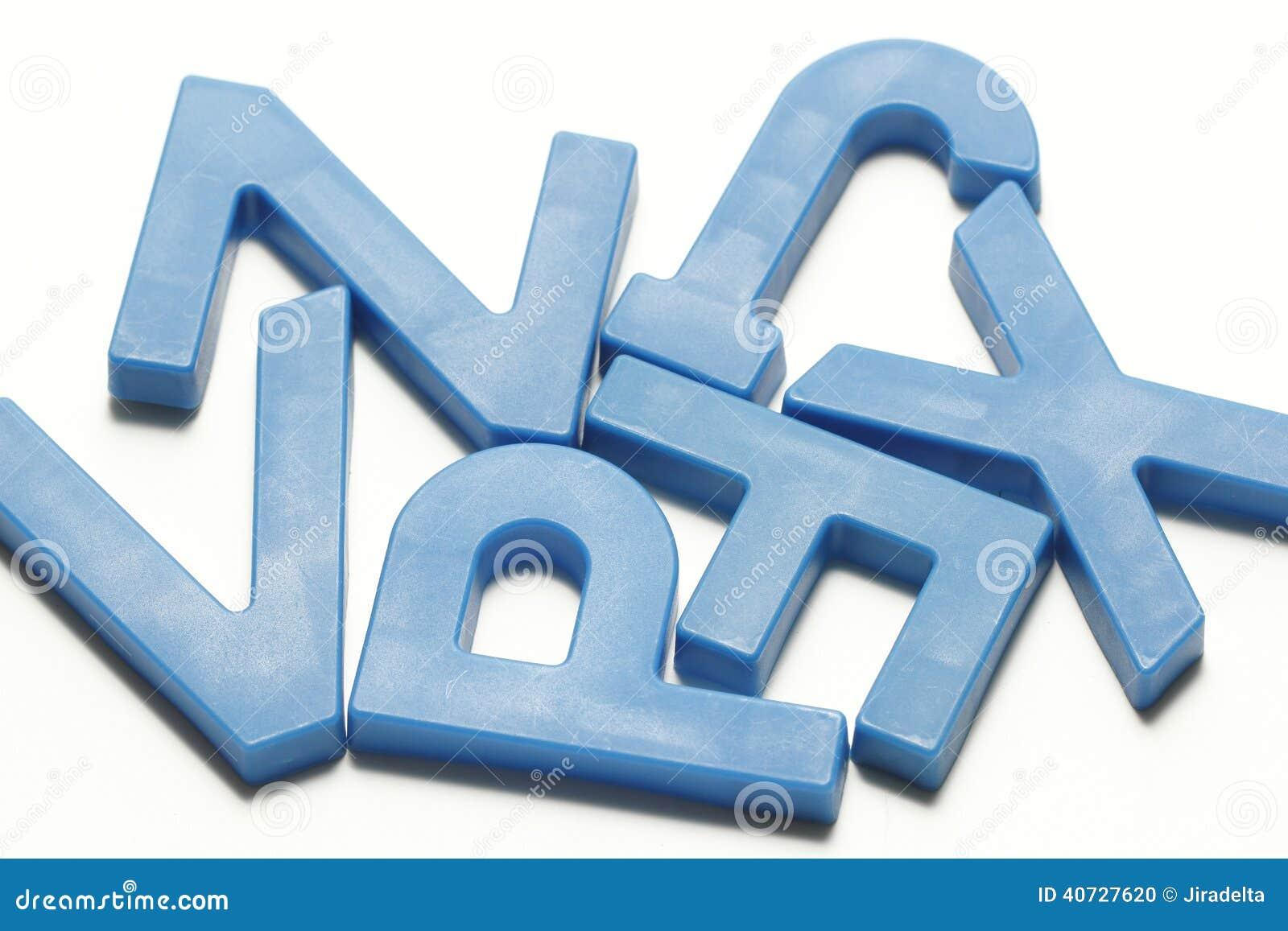 Cyan Plastikowi magnesowi abecadła