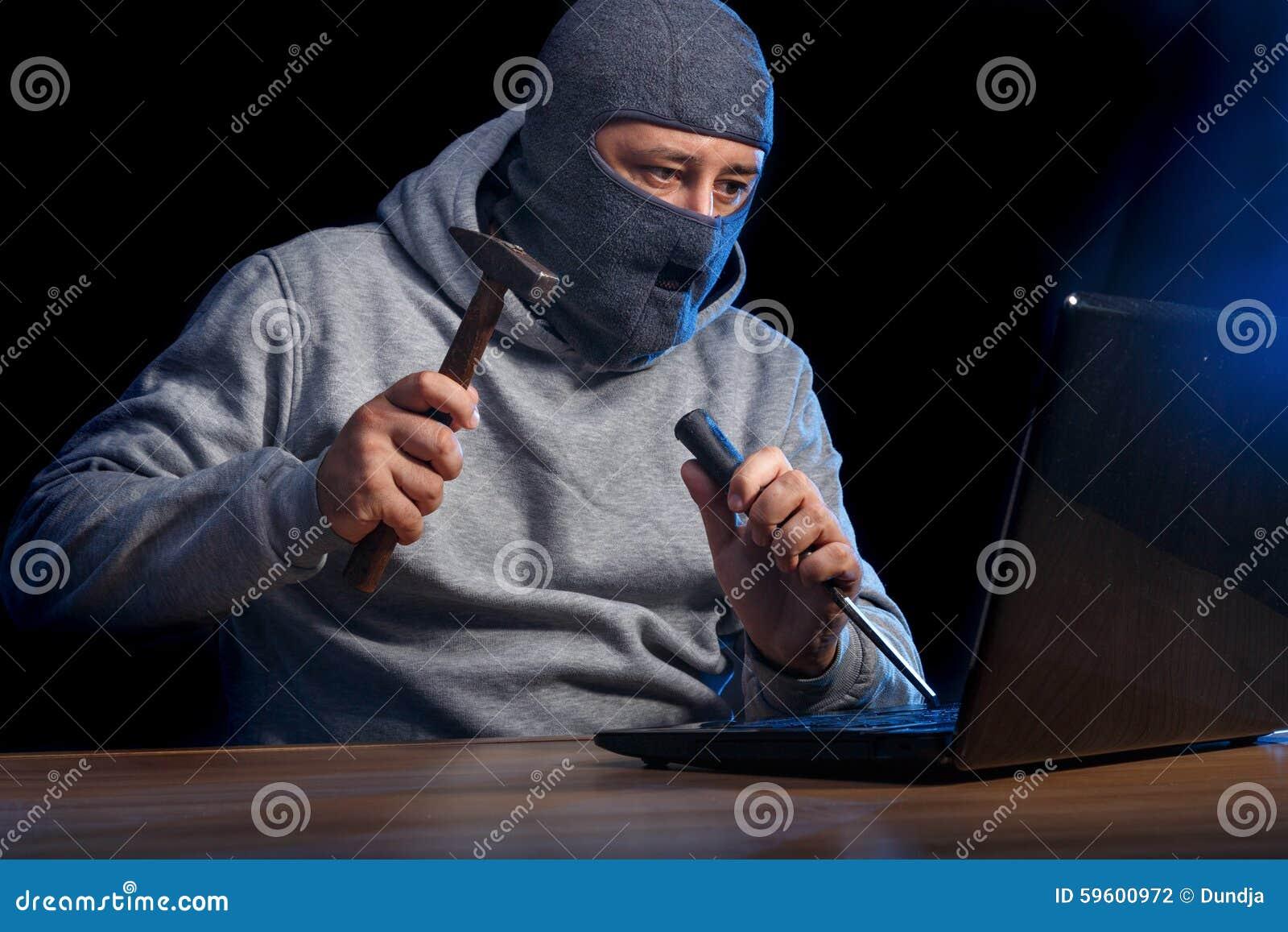 cyber crime stock photo image of cracker electronic 59600972