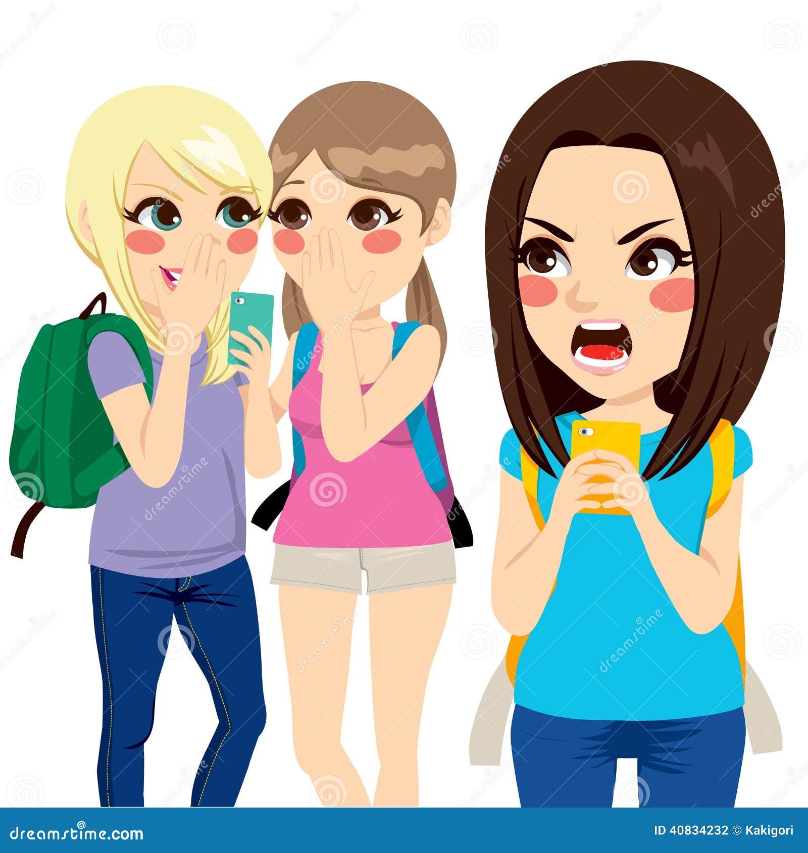 Cyber-Einschüchterungsstudent Girls