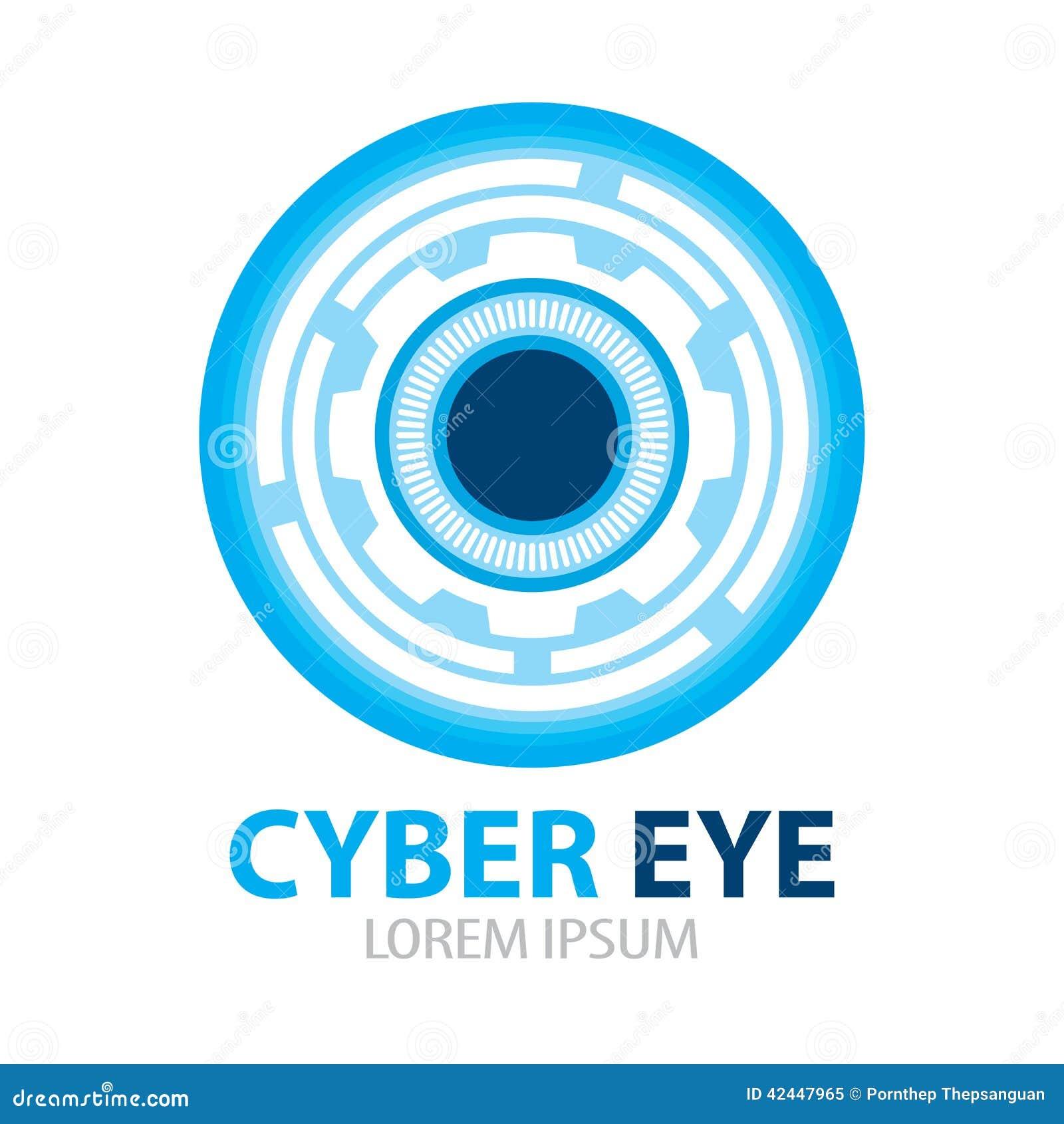 Cyber Eye Symbol Icon Stock Vector Illustration Of Gear 42447965