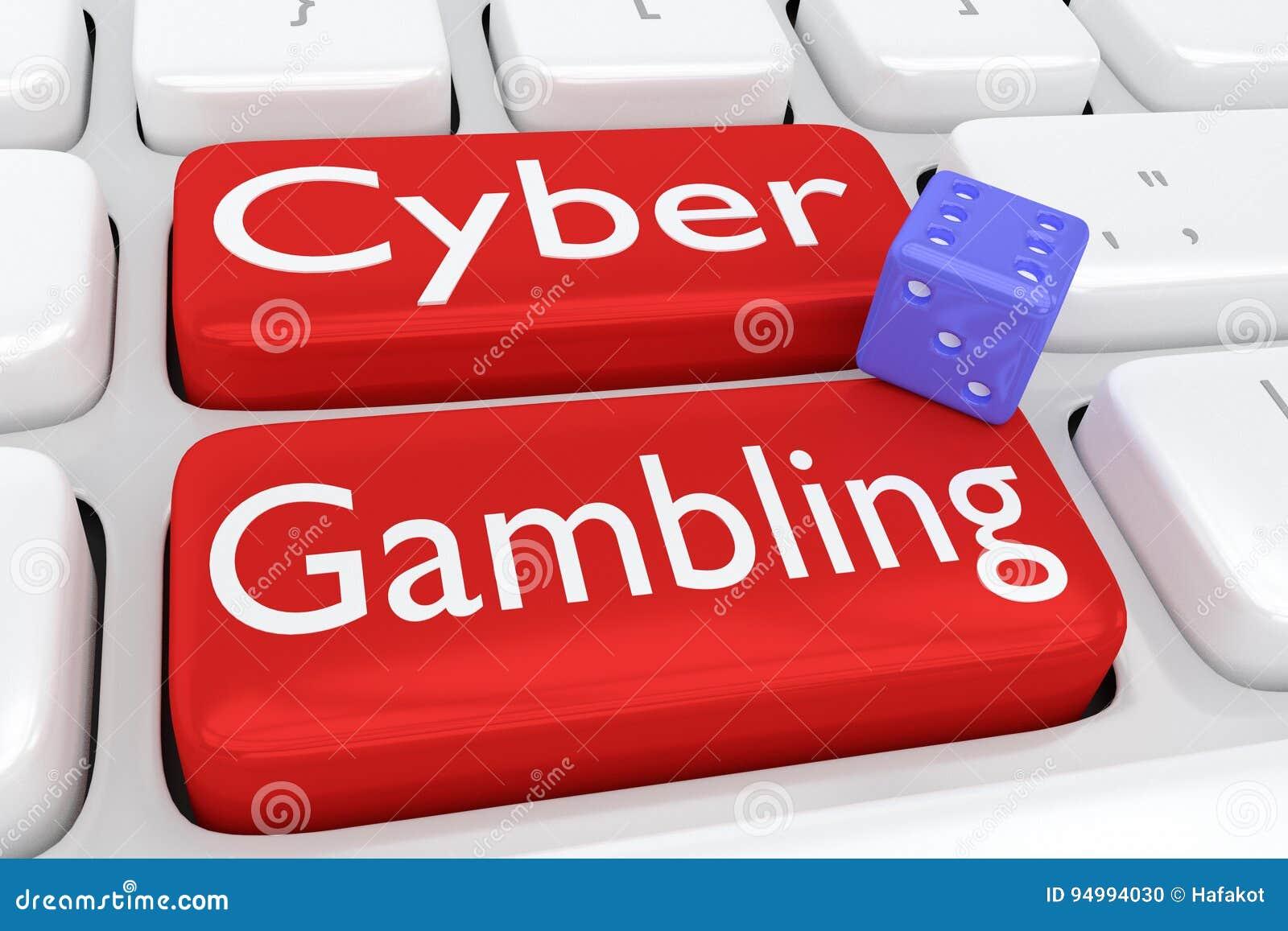 Cyber gambling concept stock illustration. Illustration of online.