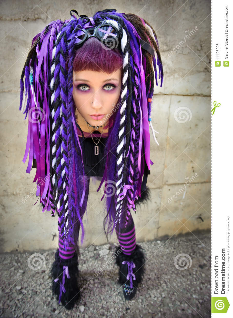 cyber gothic girl stock photo image of freak grunge