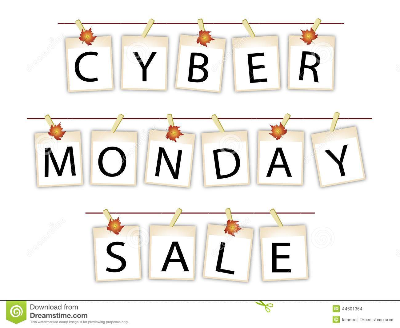 Cyber Monday Banner Of Blank Photos With Maple Leaves
