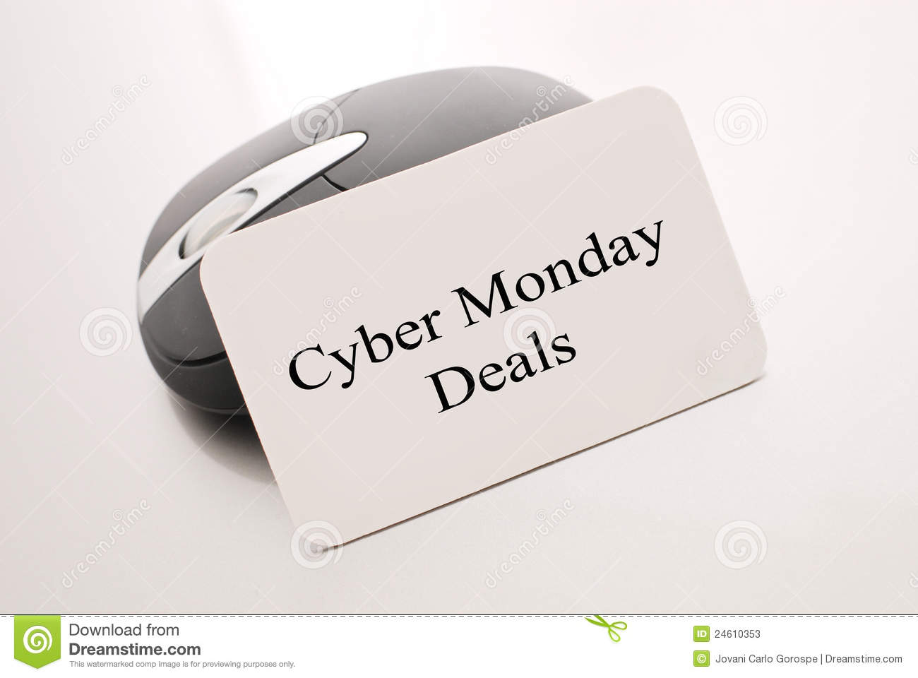 Cyber Monday Deals Stock Image Image Of Holiday Discount 24610353