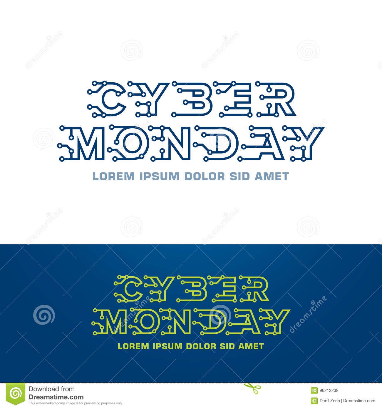 Cyber Monday Logo Design Template With Technology Letters Stock Illustration Illustration Of Background Finance 96212238