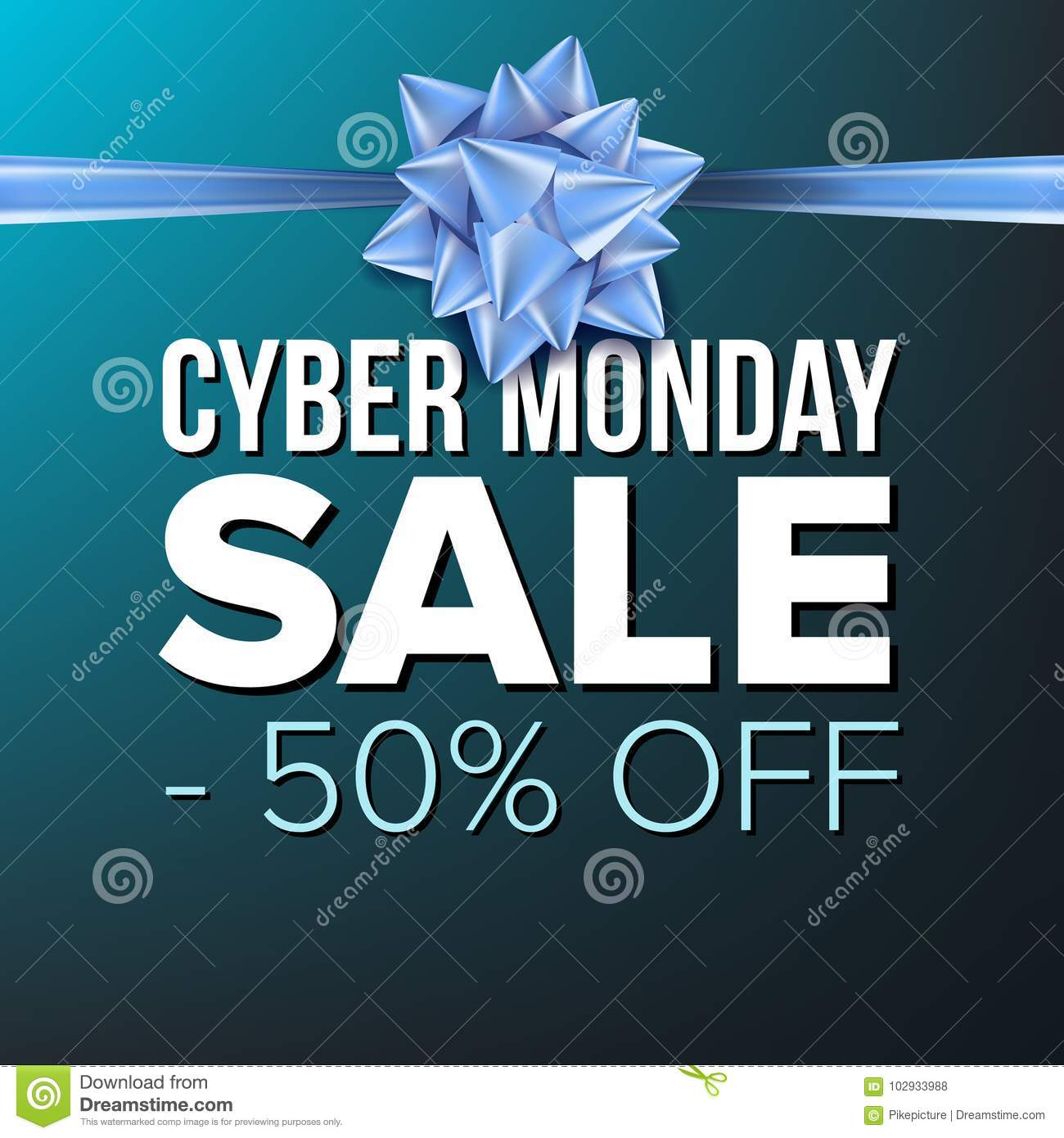 40b232f0cfe Cyber Monday Sale Banner Vector. Vector. Crazy Discounts Poster ...