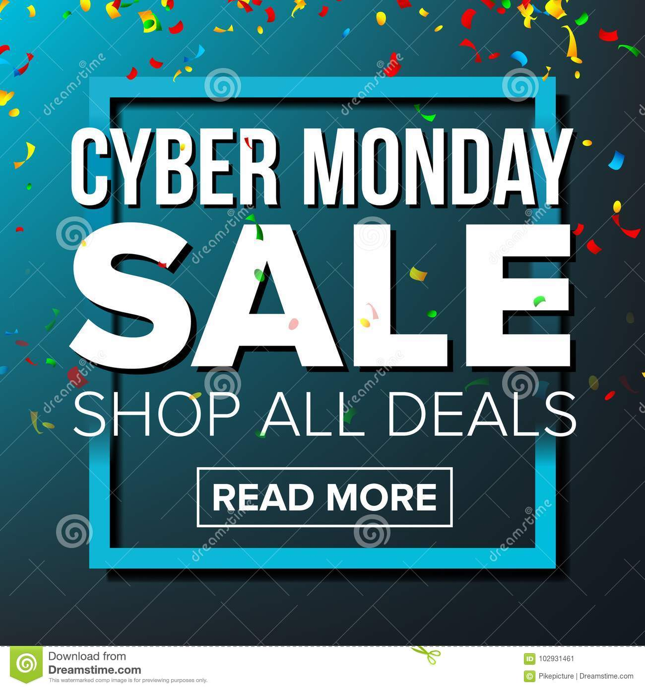 afd6dbba2a1 Cyber Monday Sale Banner Vector. Business Advertising Illustration ...