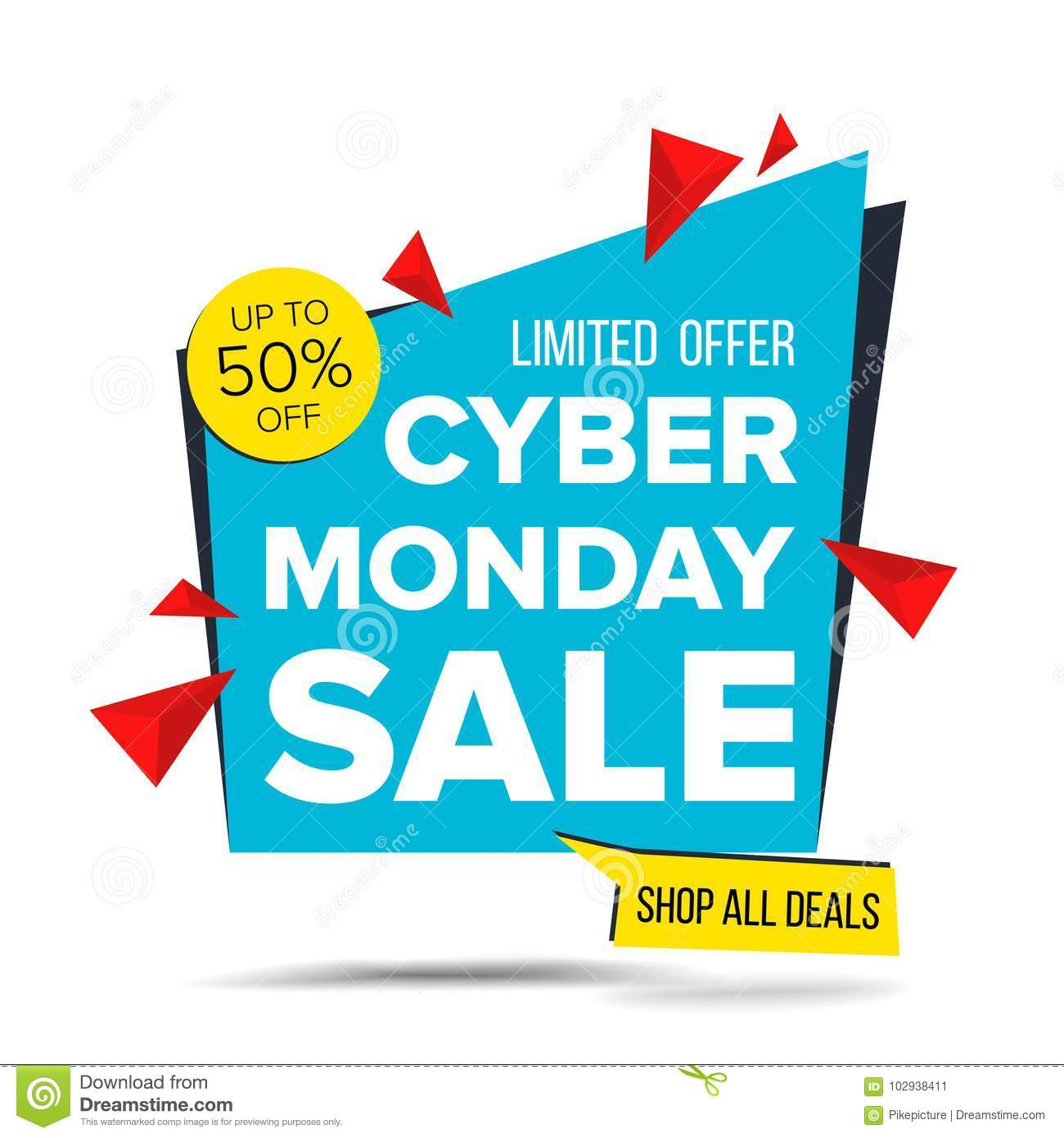 be3616e2cae Cyber Monday Sale Banner Vector. Discount Up To 50 Off. Discount Tag ...