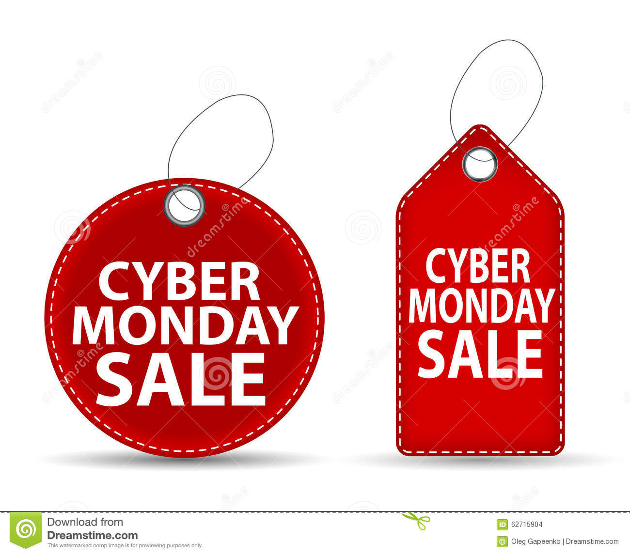 Cyber Monday SALE Label Vector Illustration Stock Vector