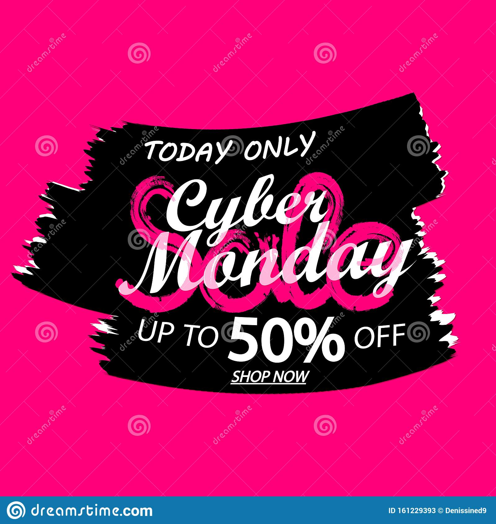 Cyber Monday Sale 50 Off, Banner Design Template, Discount