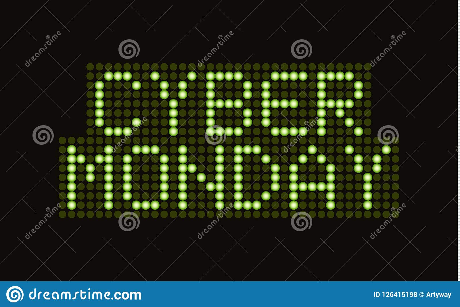 cyber monday sale scoreboard font vector banner discount electronic