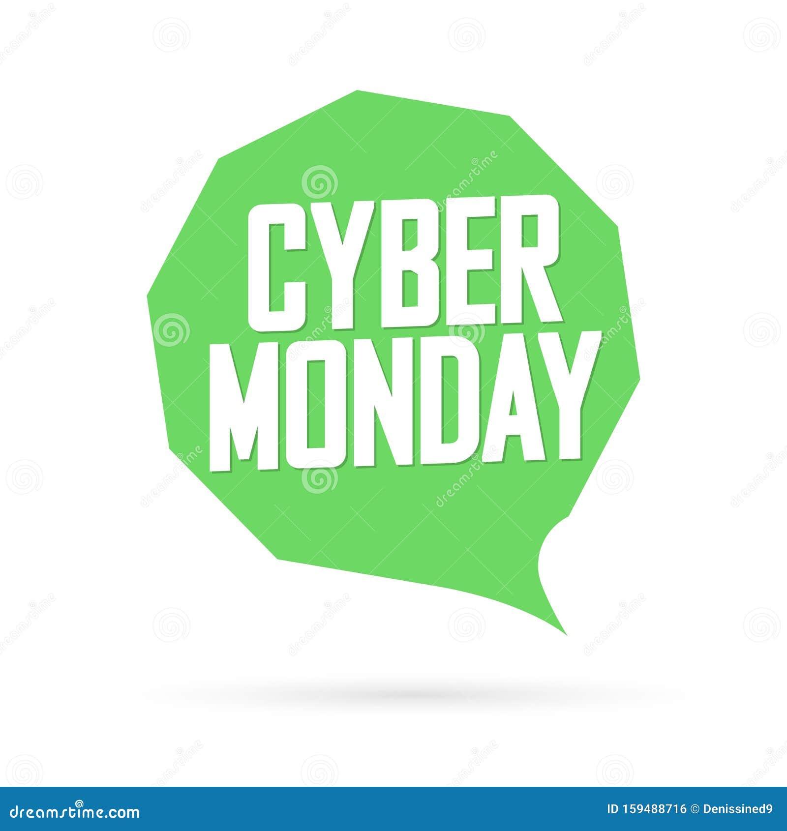 Cyber Monday, Sale Speech Bubble Banner Design Template