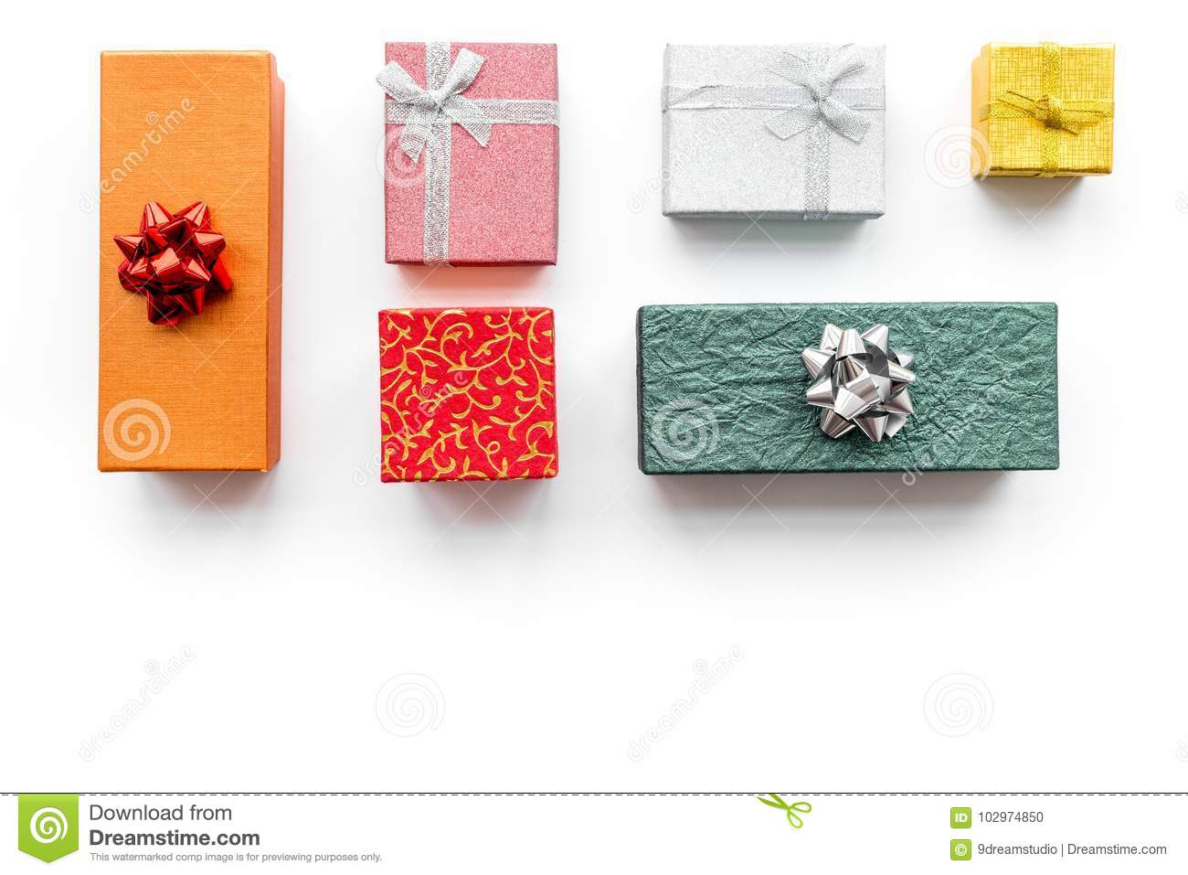 Cyber Monday Sales With Boxes For Christmas Gifts On White ...