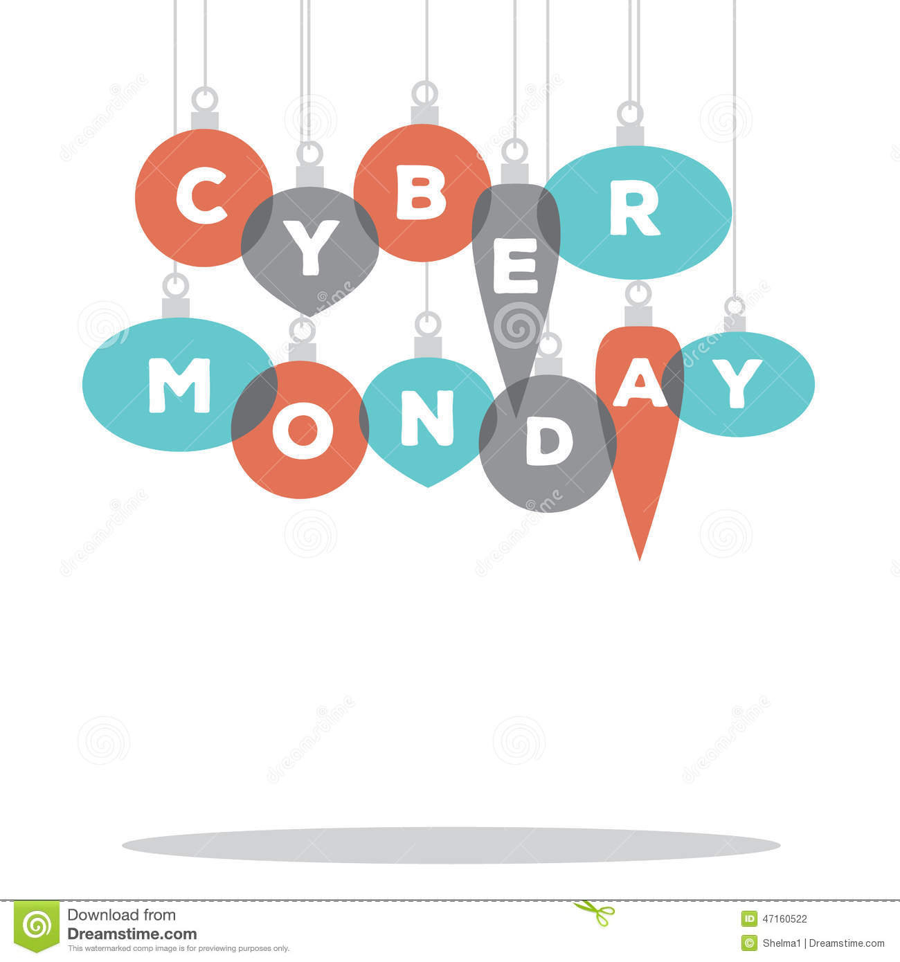 download cyber monday spelled by christmas ornaments stock illustration illustration of photo background
