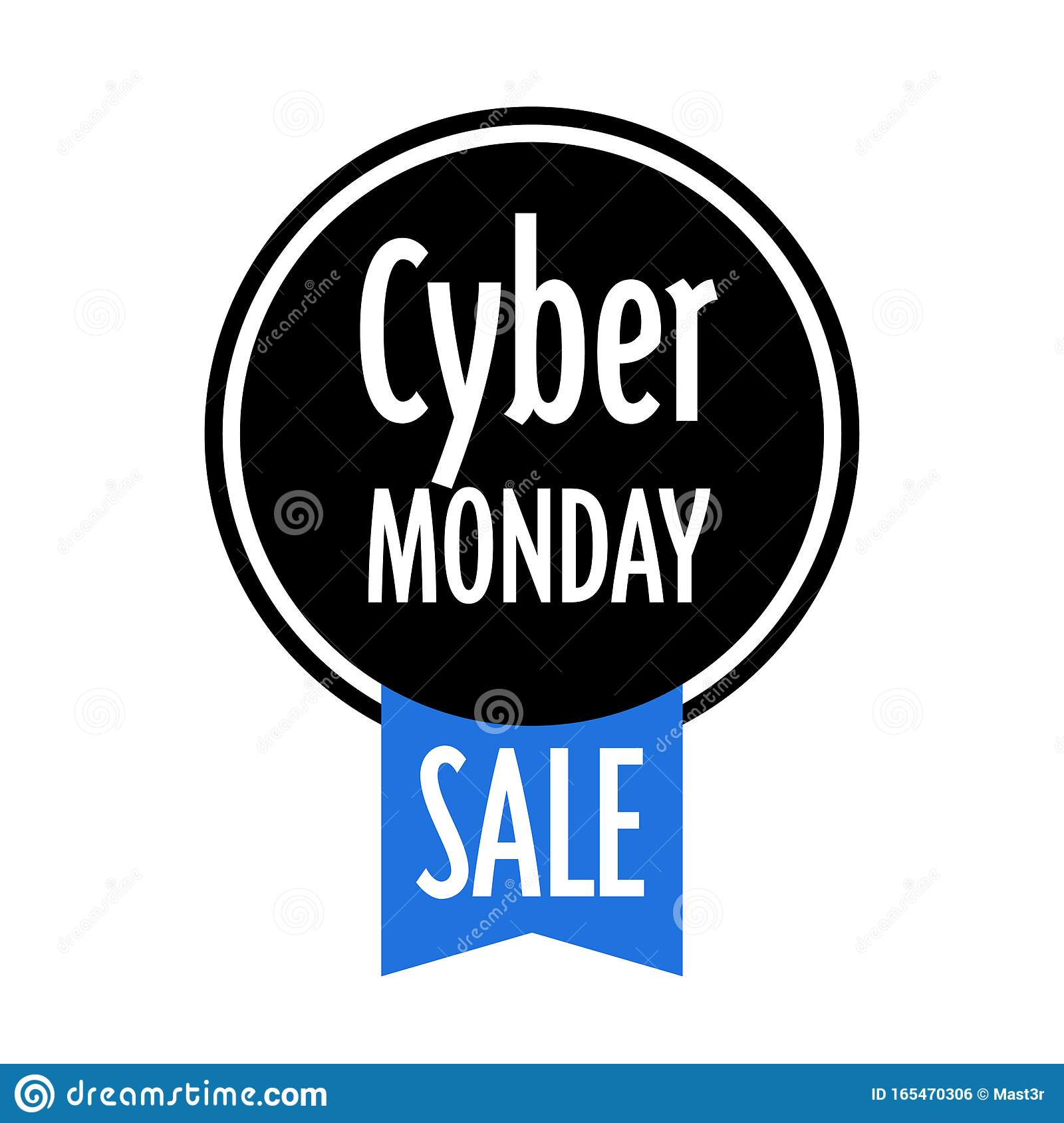 Cyber Monday Sticker Big Sale Advertisement Special Offer