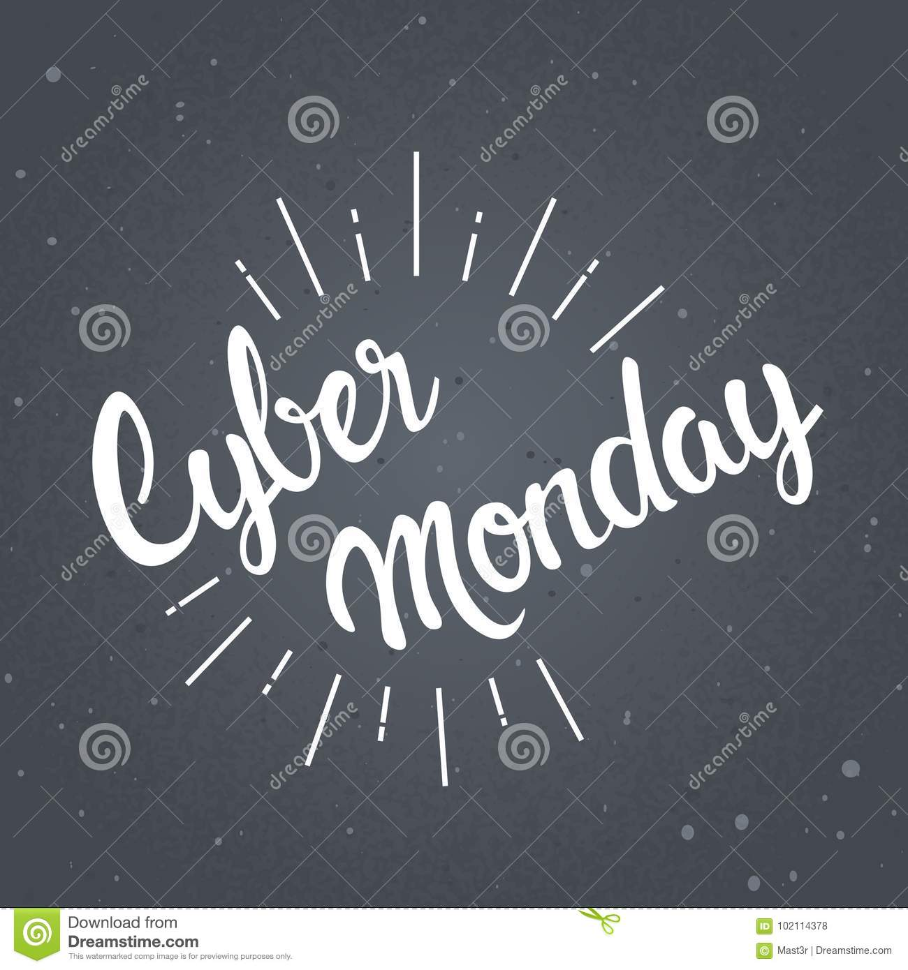 Cyber monday sticker design online shopping sale poster