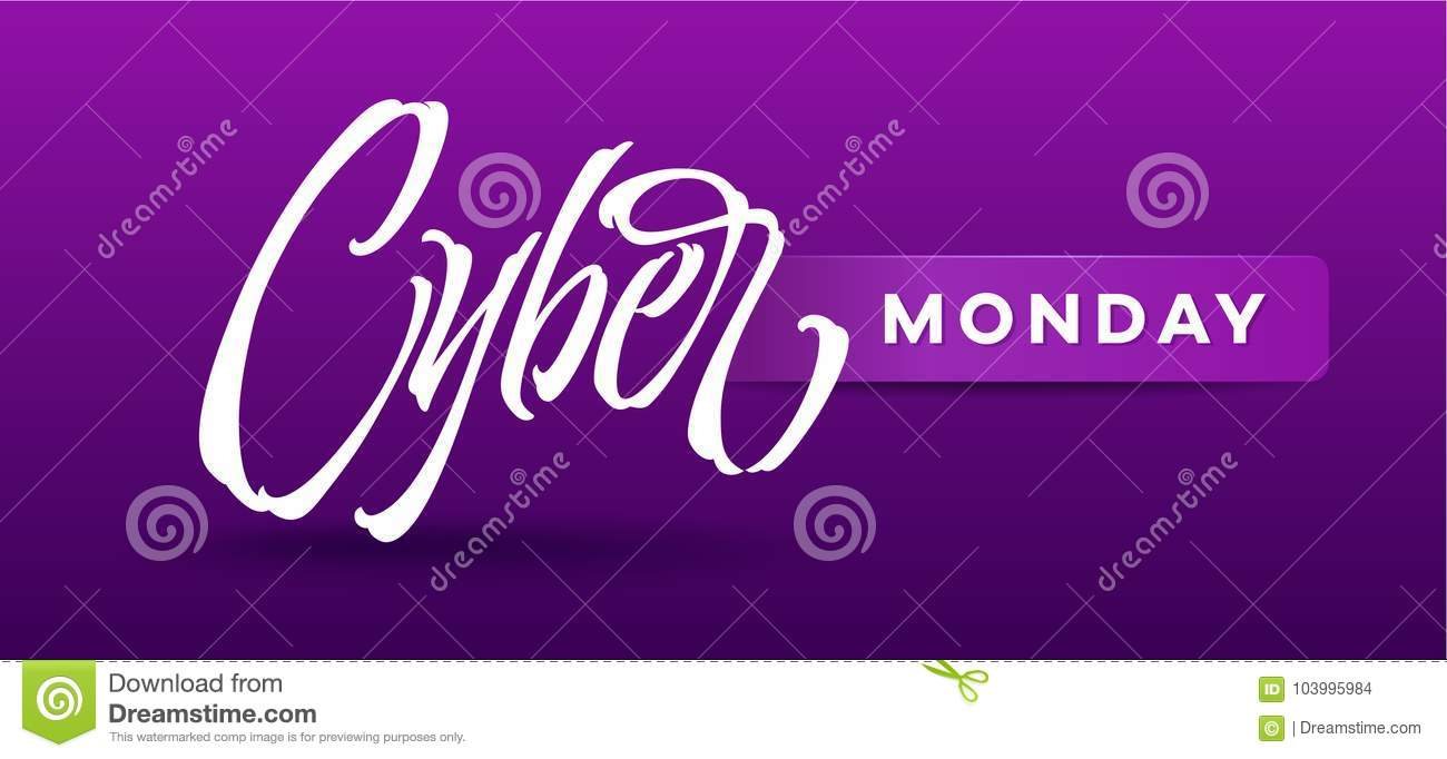 Cyber Monday typography for card, banners, ads, advertising brochures, booklet