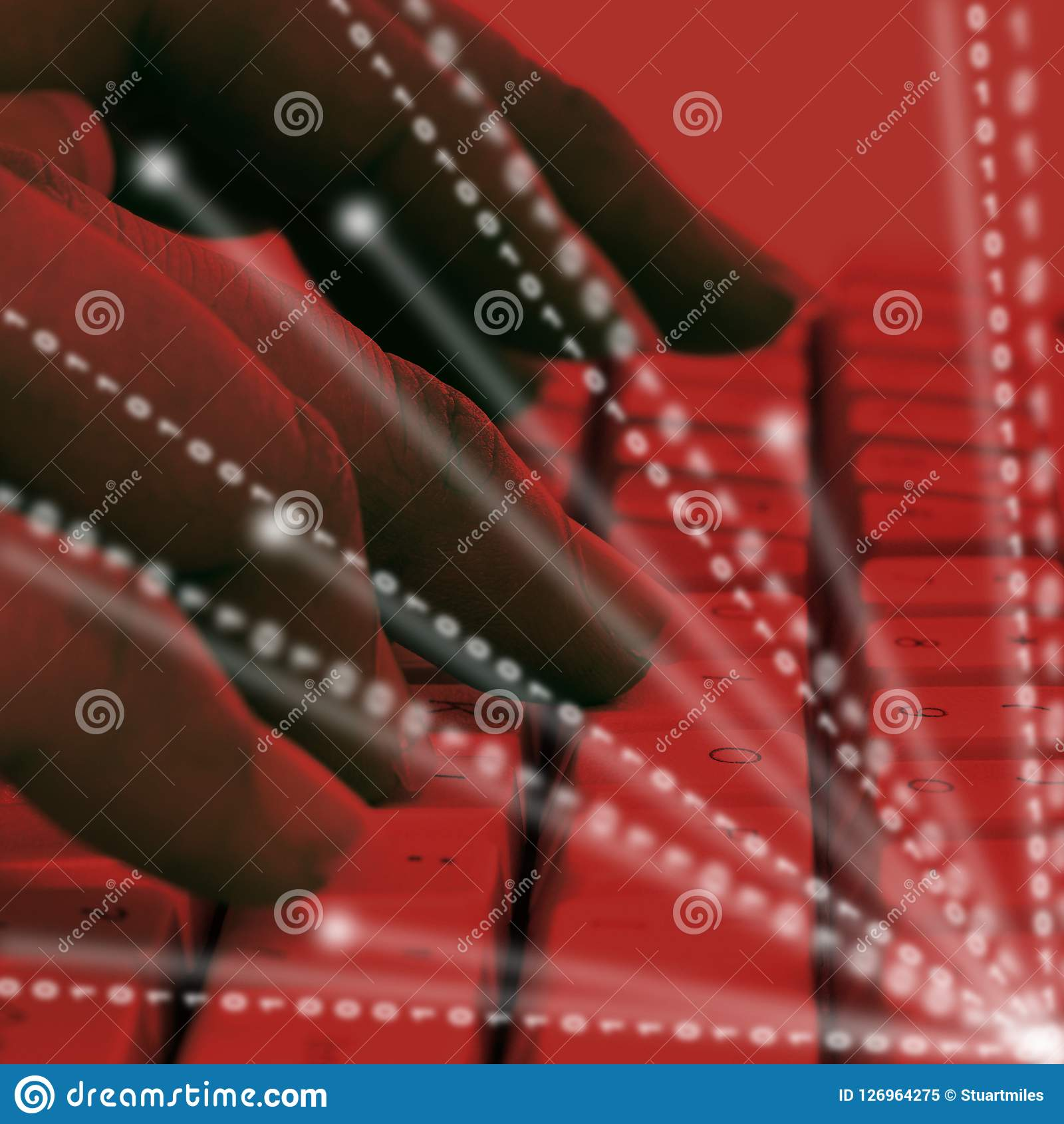 Cyber secret d espionnage d entreprise entaillant l illustration 3d