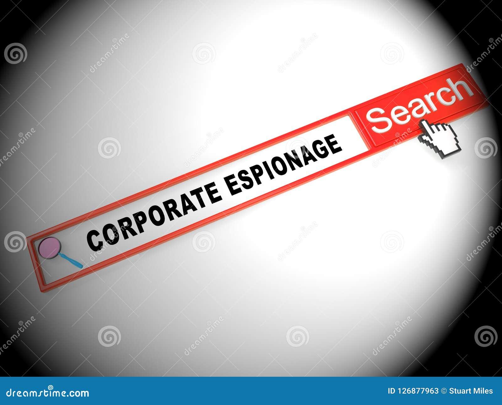 Cyber secret d espionnage d entreprise entaillant la 2d illustration