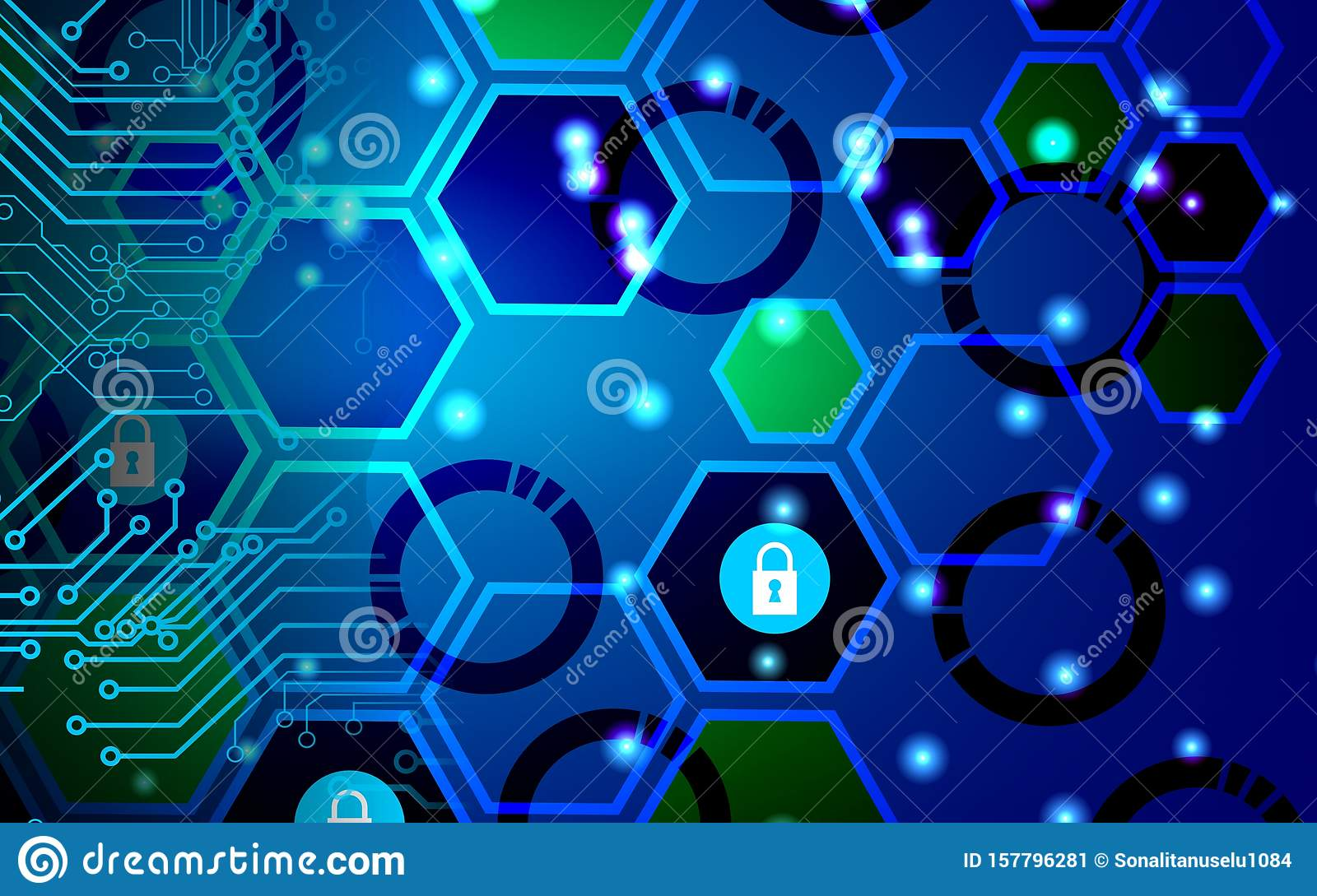 Cyber Security Data Protection Business Technology Privacy concept. Hand, confidential.