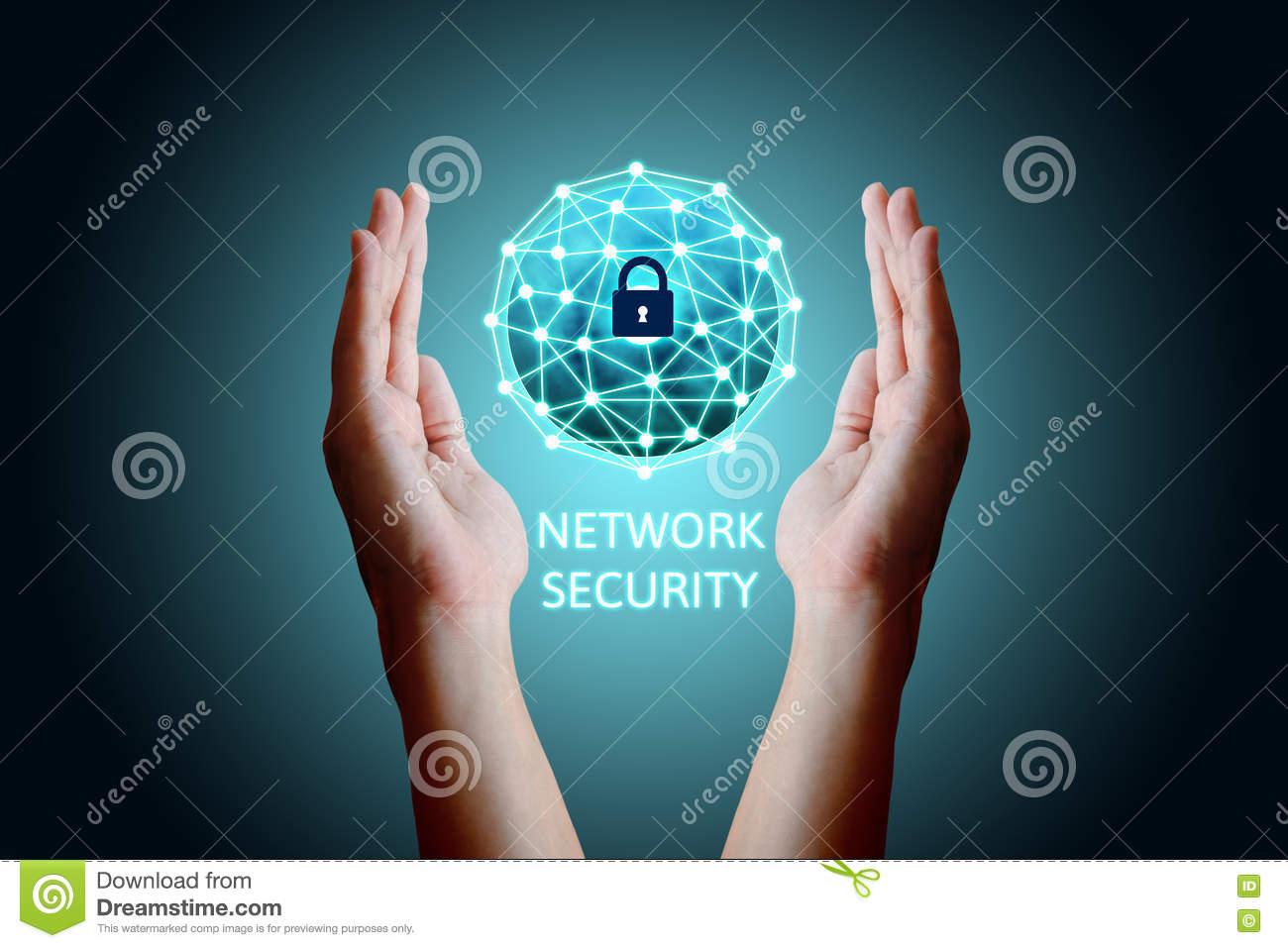 Free Internet Security >> Cyber Security Network Concept, Young Asian Man Holding Global N Stock Photo - Image: 81671546