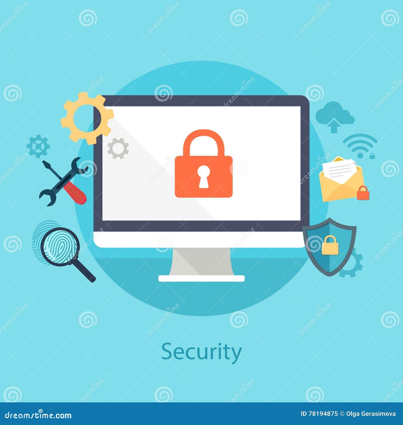 Security System Design Stock Illustration | CartoonDealer ...