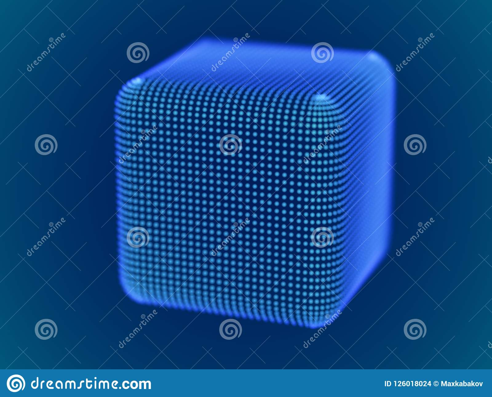 best place differently the best Cyber Space Concept: 3d Digital Cube Consisting Of Glowing ...