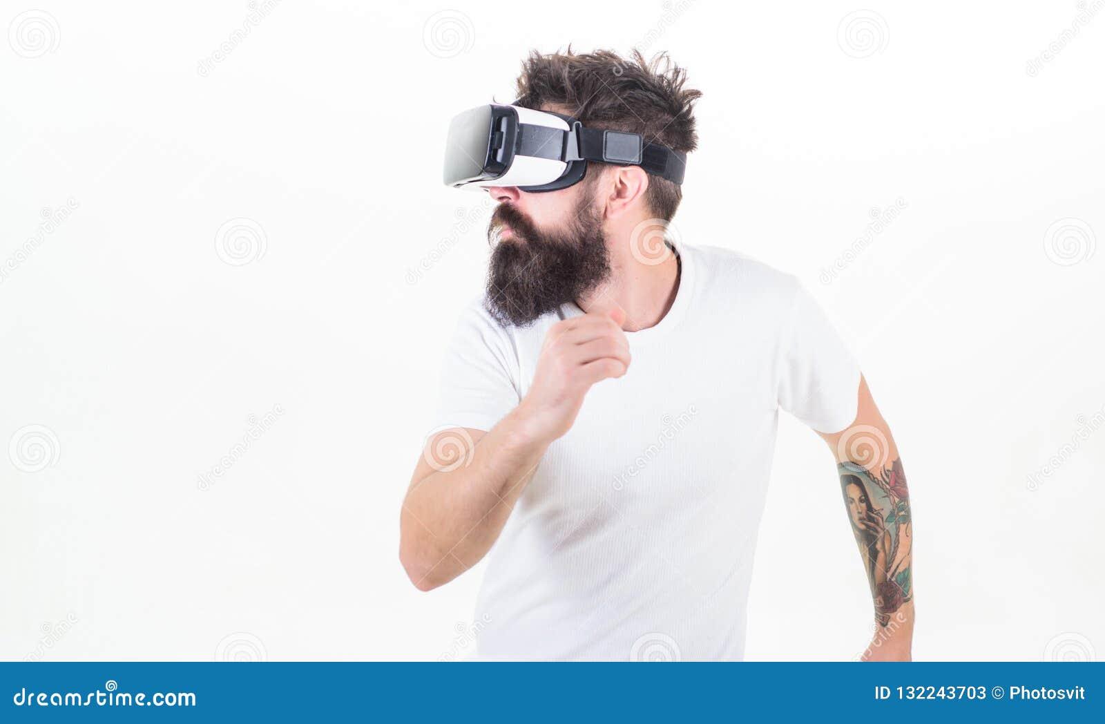 Cyber sport Facet z głowa wspinającą się pokazu antrakta rzeczywistością wirtualną Modniś sztuki sporta wirtualna gra Wirtualna r