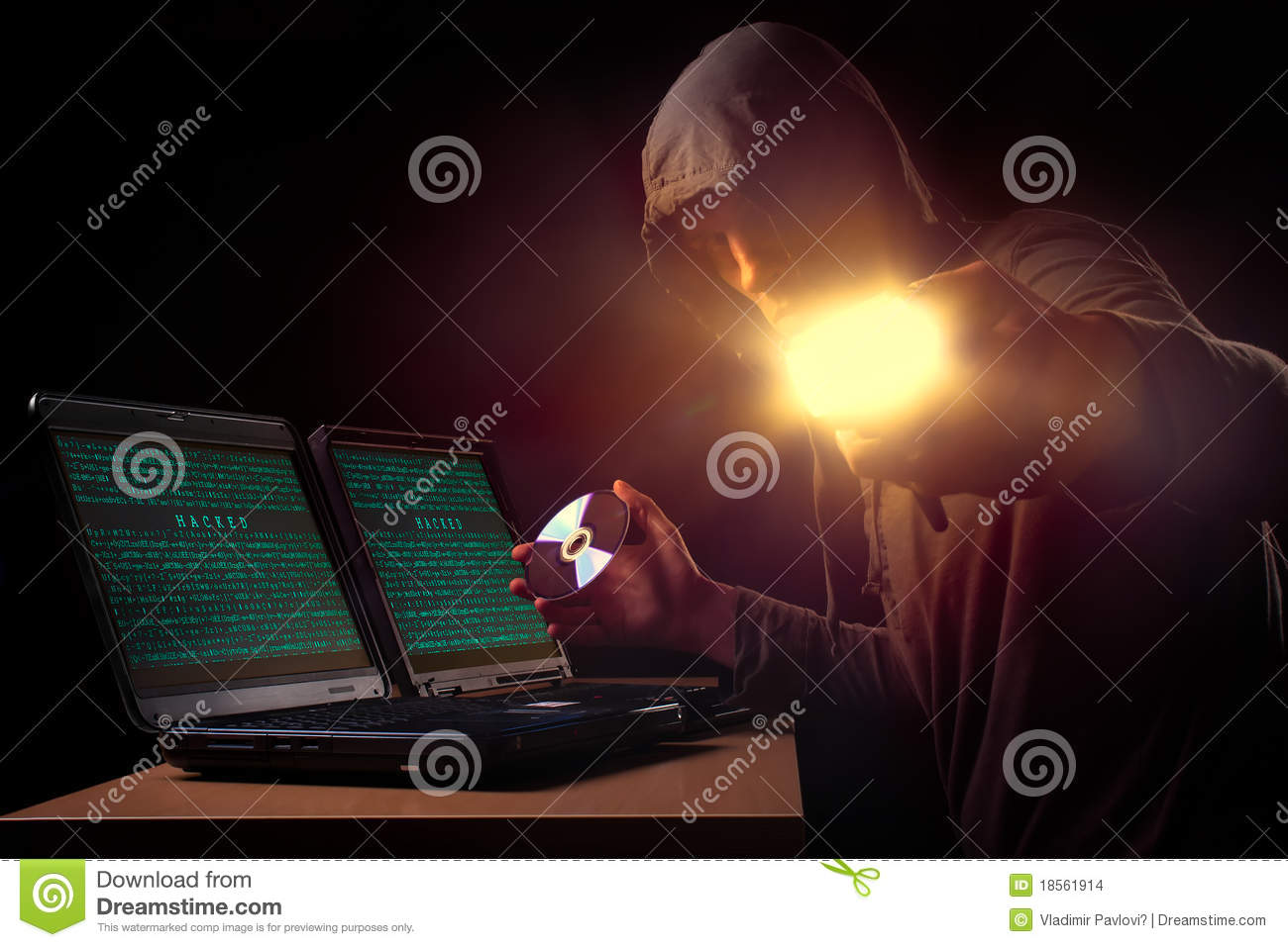 Hacker stock photo  Image of hand, compact, hack, internet - 18561914