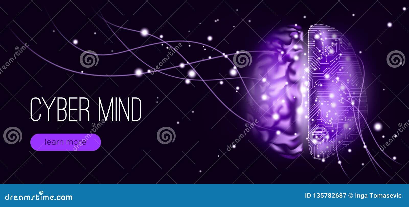 Cyber umysłu pojęcie z Big Data unaocznieniem