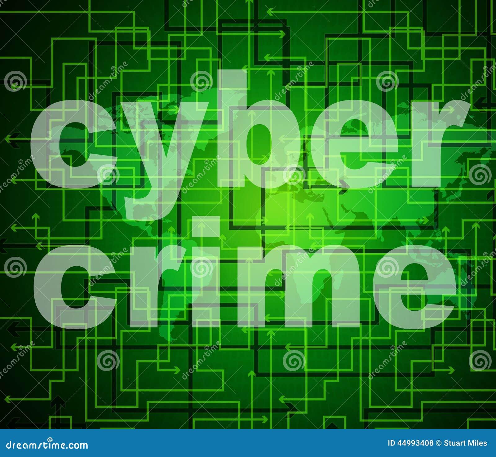 Cyber-Verbrechen bedeutet World Wide Web und Verbrecher