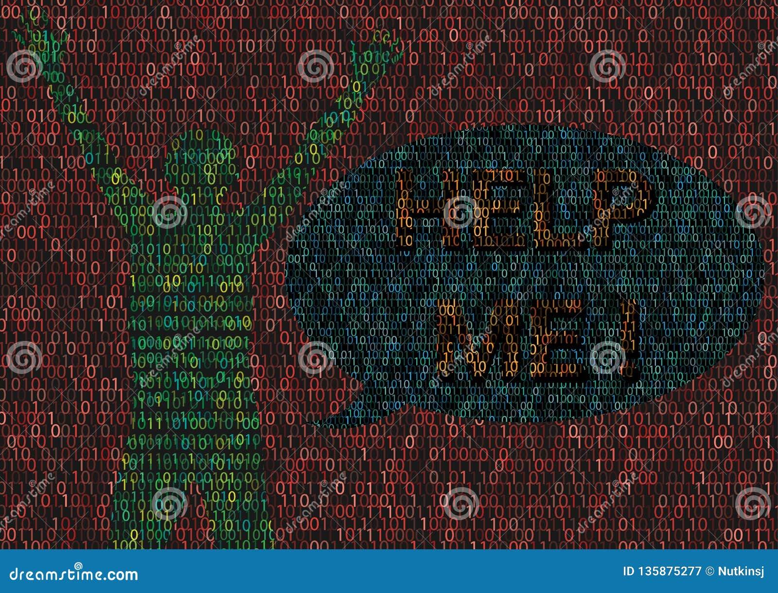 Cyberbullyingsmens in Cyber-Wereld wordt geslagen die